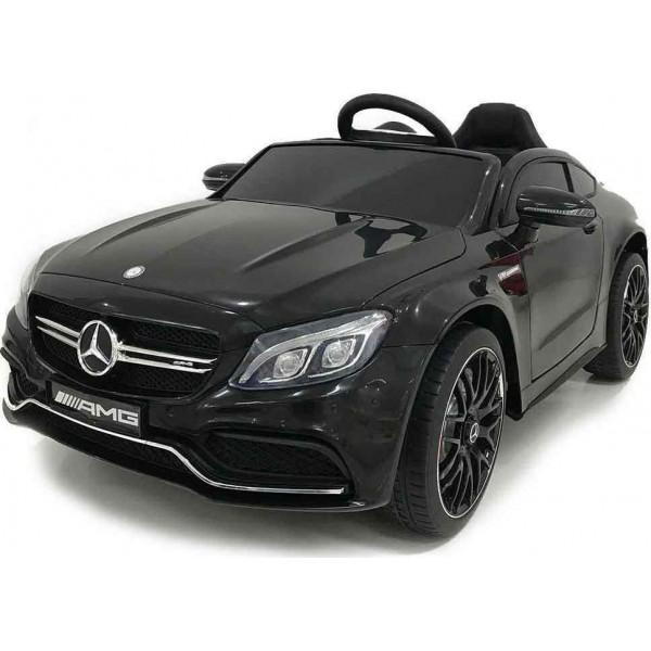 Ηλεκτρικο Αυτοκινητο Αυθεντικο Mercedes Benz C63 12v Μαυρο - QY1588