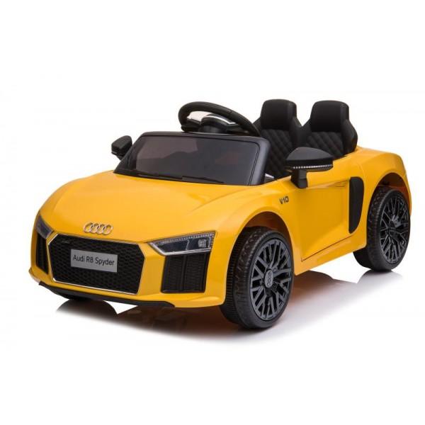 Ηλεκτρικο Αυτοκινητο Αυθεντικο Audi R8 12v Κιτρινο - 99-608