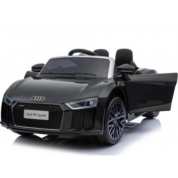 Ηλεκτρικο Αυτοκινητο Αυθεντικο Audi R8 Spyder 12V Μαυρο - 01-2121025-01
