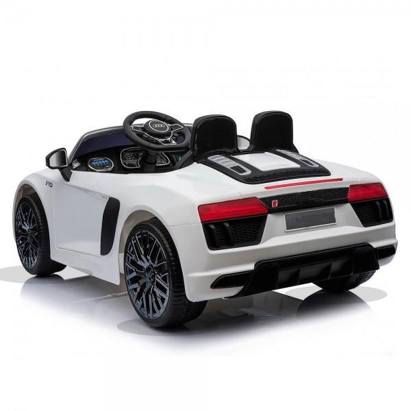 Ηλεκτρικο Αυτοκινητο Αυθεντικο Audi R8 12v Aσπρο - 99-608