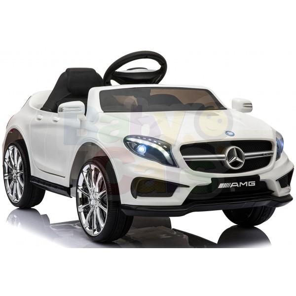 Ηλεκτρικο Αυτοκινητο Αυθεντικο Mercedes Benz GLA 45 AMG 12v Ασπρο - 99-645