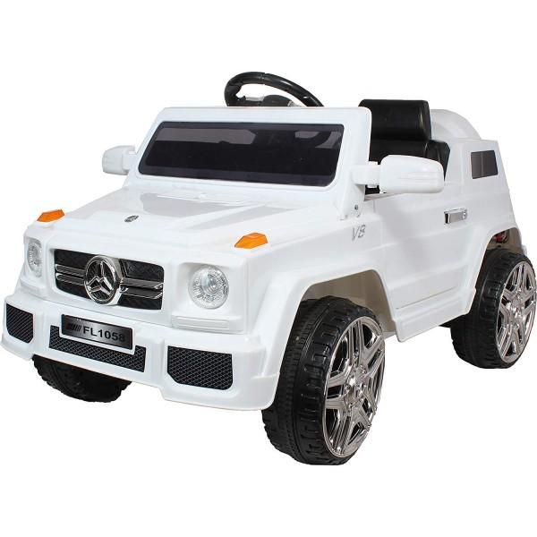 Ηλεκτρικο Αυτοκινητο Τυπου Mercedes Benz G55 12v Ασπρο 99-658