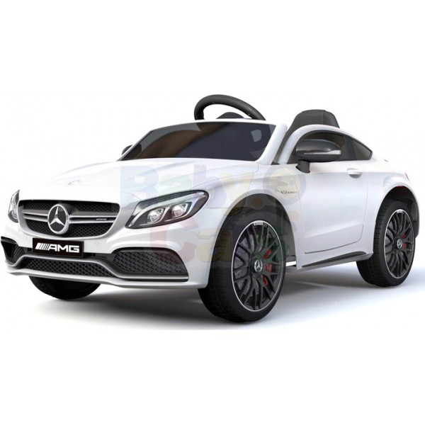 Ηλεκτρικο Αυτοκινητο Αυθεντικο Mercedes Benz C63 12v Ασπρο - 99-663