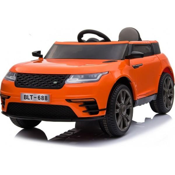 Ηλεκτρικο Αυτοκινητο Τυπου Range Rover Velar 12v Πορτοκαλι - 99-688
