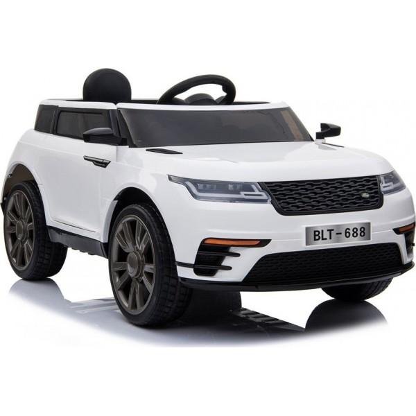 Ηλεκτρικο Αυτοκινητο Τυπου Range Rover Velar 12v Ασπρο - 99-688