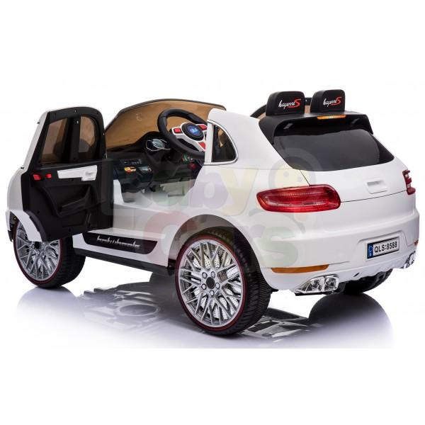 Ηλεκτρικο Αυτοκινητο Τυπου Porsche Macan 12v Ασπρο - 99-720