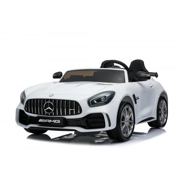 Ηλεκτρικο Αυτοκινητο Αυθεντικο Mercedes Benz GTR 12v Ασπρο - 99-889