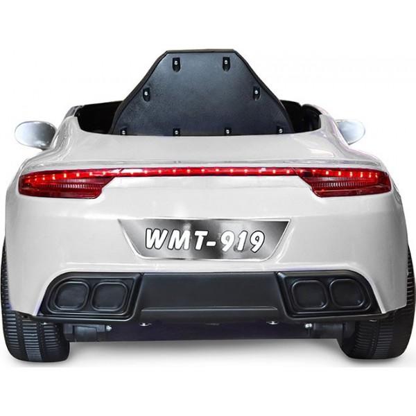 Ηλεκτρικο Αυτοκινητο Τυπου Porsche 6V Λευκό - WMT-919