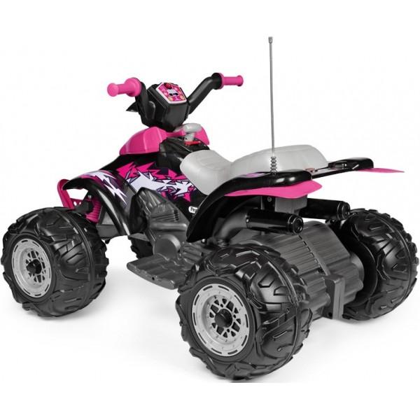 Παιδική Γουρούνα Corral T-Rex 12V 330W Peg Perego Ροζ - OR0101