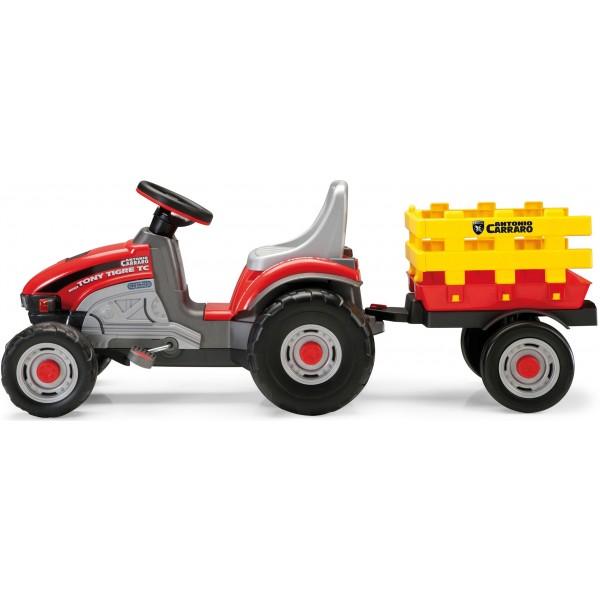 Πεταλοκίνητο Τρακτέρ Peg Perego Mini Tony Tigre Tc Με Καρότσα - CD0529