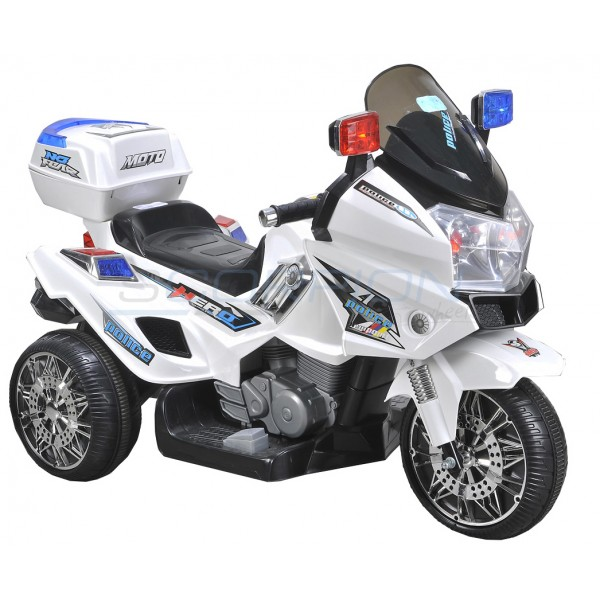 Ηλεκτρικη Μηχανη Police 12V Skorpion Wheels Λευκή - 5245025