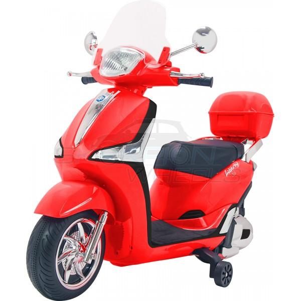 Παιδική Μηχανή Piaggio Liberty 12V Skorpion Κόκκινη Με Μπαγκαζιέρα - 52450961