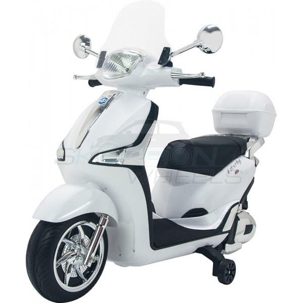 Παιδική Μηχανή Piaggio Liberty 12V Skorpion Λευκή Με Μπαγκαζιέρα - 52450961