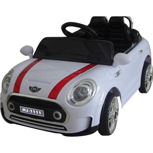 Παιδικό Αμάξι Τυπου Mini Cooper 12V Skorpion Άσπρο- 5246011