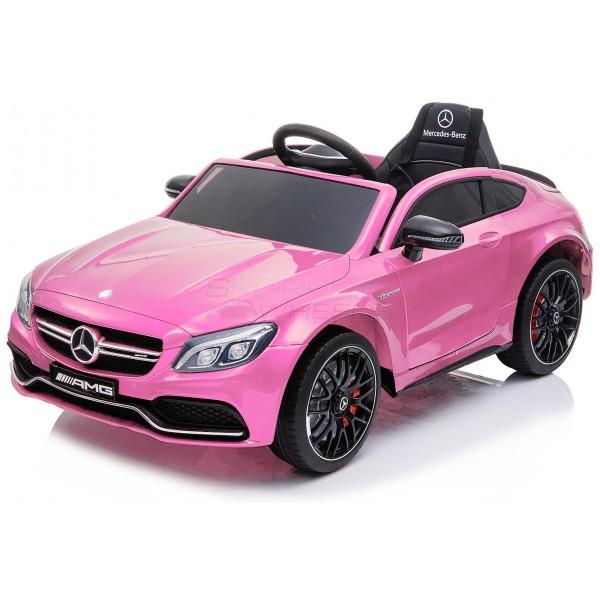 Παιδικό Αμαξι Mercedes C63 Amg 12V Skorpion Ροζ - 5246063
