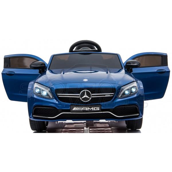 Παιδικό Αμαξι Mercedes C63 Amg 12V Skorpion Μπλε - 5246063