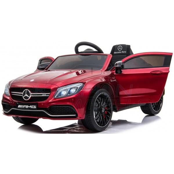 Παιδικό Αμαξι Mercedes C63 Amg 12V Skorpion Μπορντό - 5246063