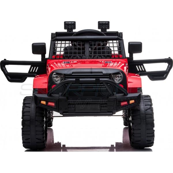Παιδικό Αμάξι Τύπου Jeep Wrangler 12V Skorpion Κόκκινο - 5246091