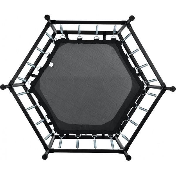 Skorpion Wheels Εξάγωνο Τραμπολίνο Με Δίχτυ 122cm Κίτρινο - 52848